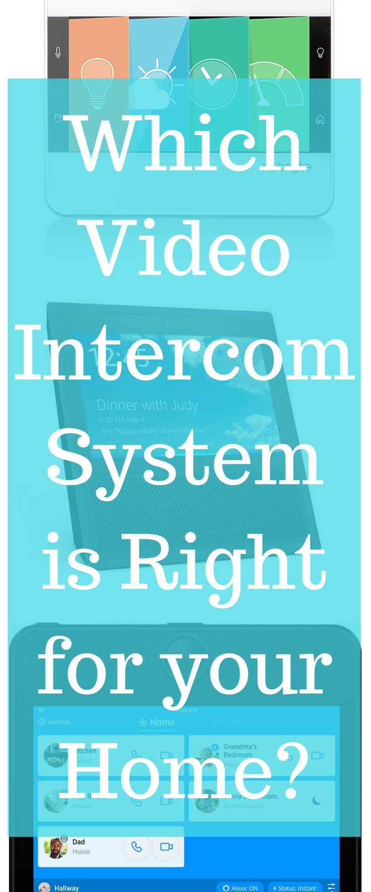 Home organization / Intercom System / organization / back to school via @clarkscondensed