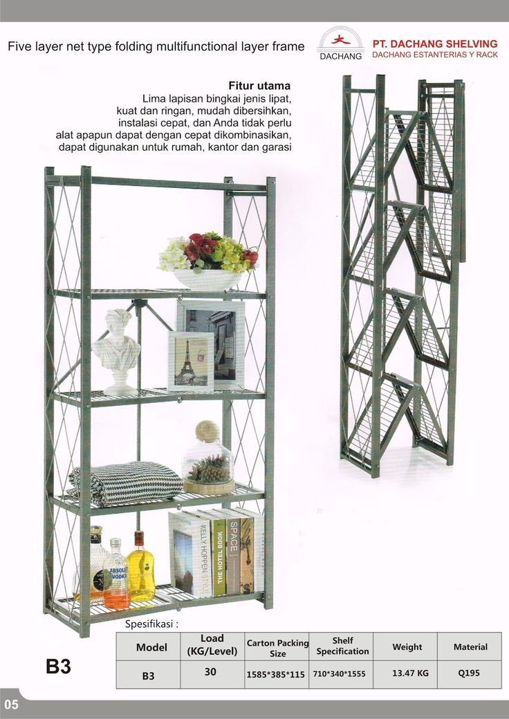 Five layer net type folding multifunctional layer frame B3  Call/WA : 081213-3040-75 PIN D3654772 http://jualrakshelving.blogspot.co.id/2016/09/five-layer-net-type-folding.html