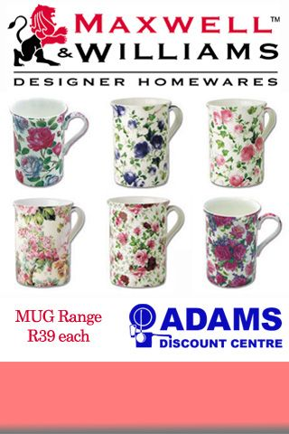 R39 per Maxwell Williams Mug