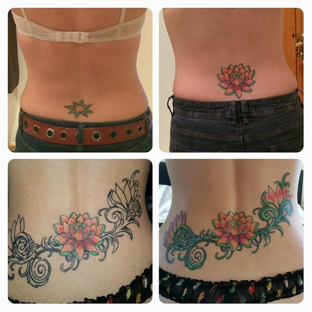 17 best images about cover ups on pinterest singapore for Cover up tattoos ideas for lower back
