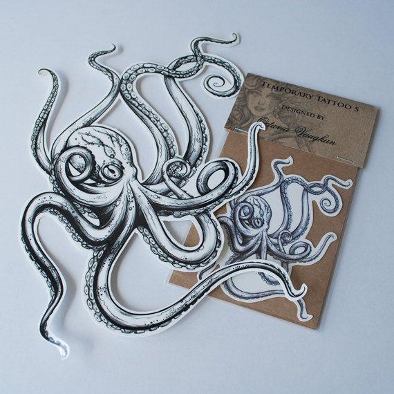 Octopus temporary Tattoo  Temporary Tattoo  by OctaviaTattoo, £3.25