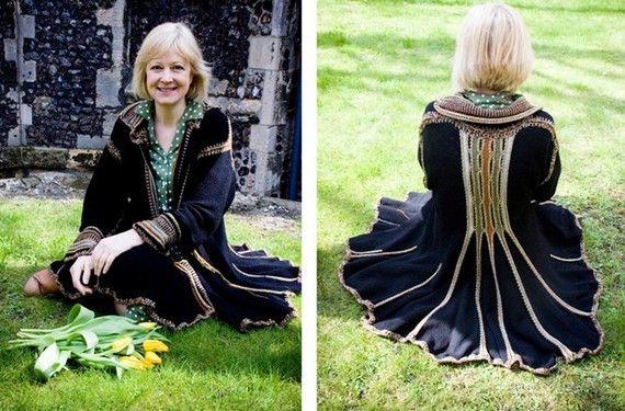 Ascot Jacket  Hand Crochet detail. UK Designer. by HouseofLavene, $712.03