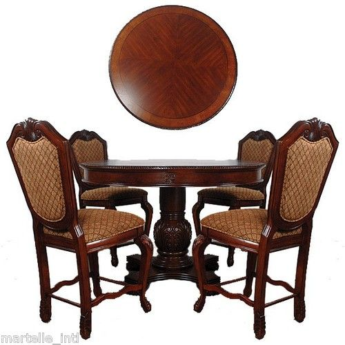 dining table set round pedestal table 4 chairs counter height gold fabric new garden furniture and dining - Dining Table 4 Chairs