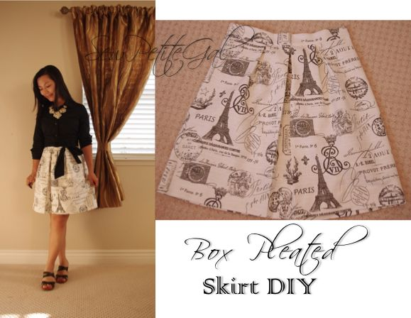 SewPetiteGal: Tutorial: Box Pleated Skirt DIY