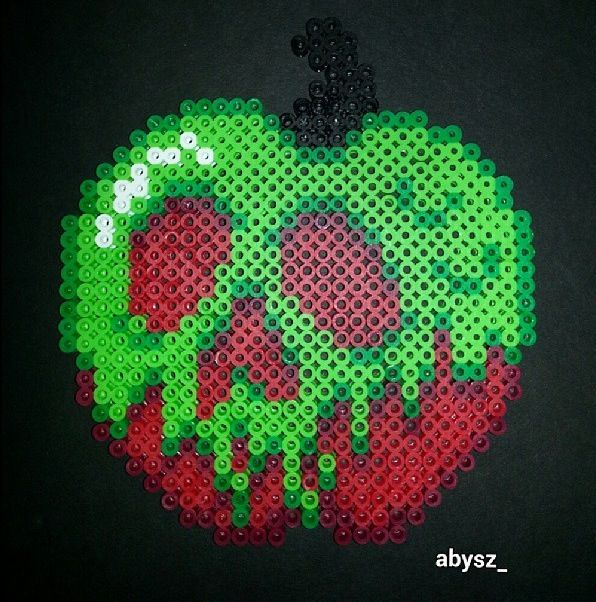 Poison Apple Perler Hama Melty Fuse Beads