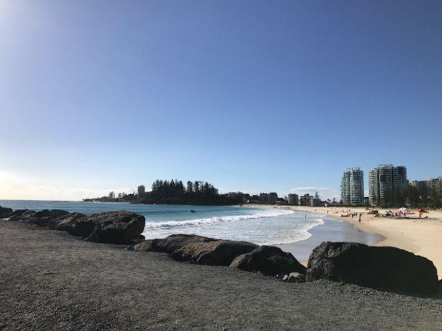 Coolangatta Beach, Australia.