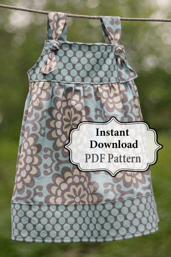 Apron Knot Dress - this dress is adorable and I'm pretty sure I could make my own pattern