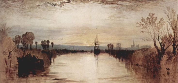 'Chichester-Kanal', öl auf leinwand von William Turner (1789-1862, United Kingdom)