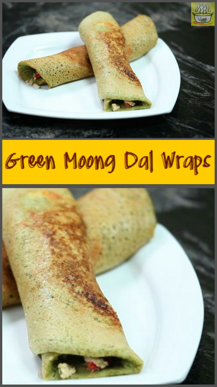 Wraps made of green mung beans & lentils, with a cottage cheese filling #Mung beans, #lentils, #wraps, #paneer, #cottage cheese, #healthy, #lunch, #dinner, #vegetarian, #quick meals, #lunchbox