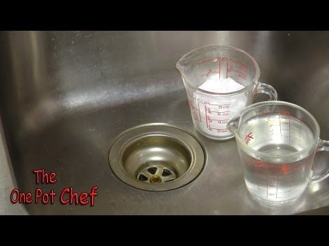 Quick Tips: Cleaning Kitchen Drains - YouTube  Did this tonight and it worked!!! Thank god bc that drain was so gross! -Melissa