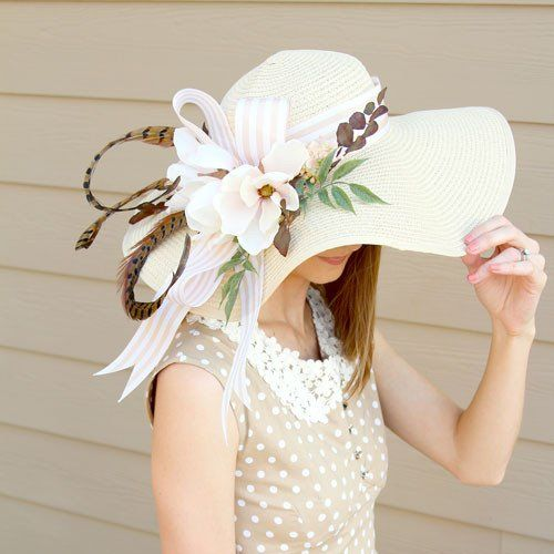 Get ready for the Kentucky Derby. Create a one of a kind Kentucky Derby Hat with our silk flowers and this easy tutorial by Southern Girl Weddings. Gather foc