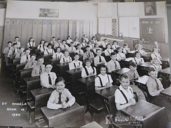 Today we consider a 30-kid classroom to be much too large. In Catholic school in the 1950s, we were 50 to a class!