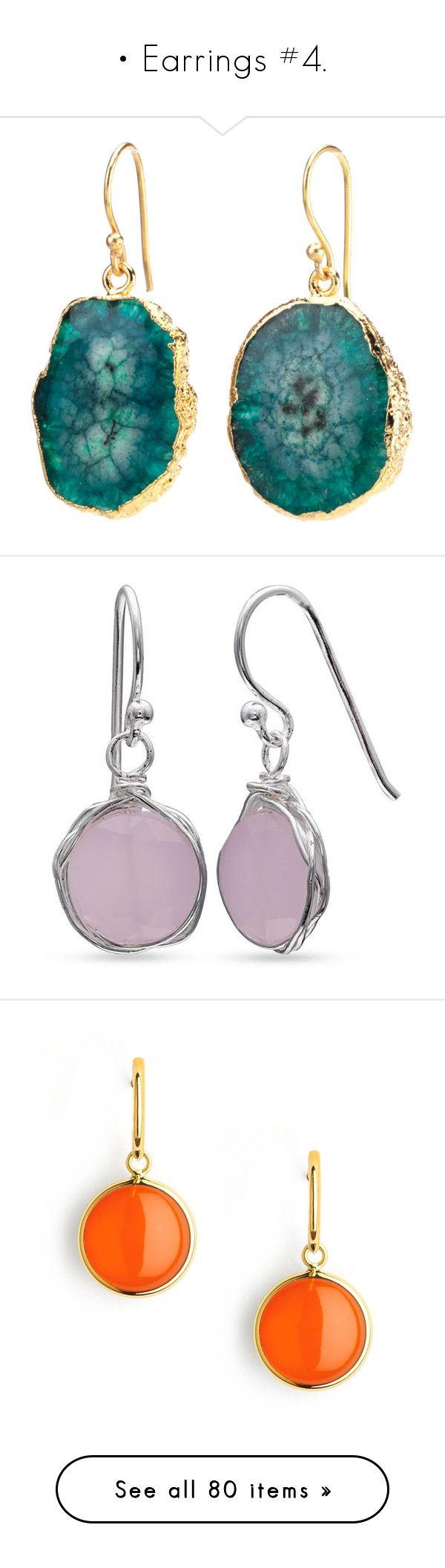 """• Earrings #4."" by krys30rose ❤ liked on Polyvore featuring jewelry, earrings, brinco, hook earrings, agate earrings, dangle earrings, long earrings, nickel free earrings, pastel pink and pink drop earrings"