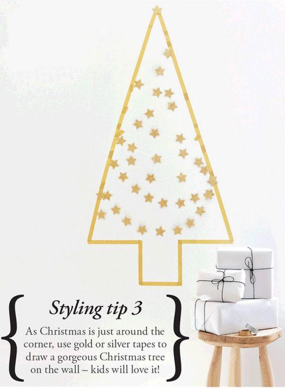 Washi Tape Christmas Tree #maskingtape