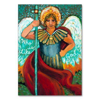 Customizable St. Michael Archangel Prayer Card - gift for him present idea cyo design