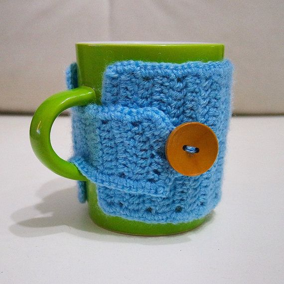 Coffee mug cozy, tea mug cozy, handmade crochet cozy, mug sweater