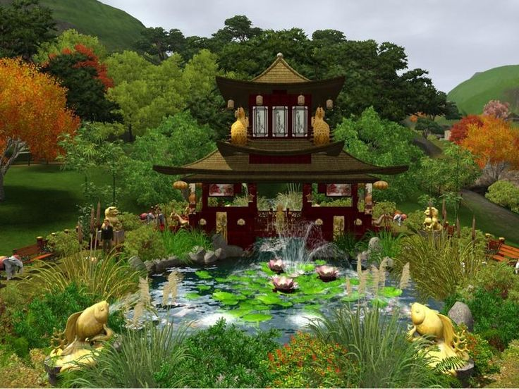 Little Chinese Garden by Wimmie Awesome chinese garden! #sims3inspiration - 12 Best Sims 3 Garden Ideas Images On Pinterest Garden Ideas