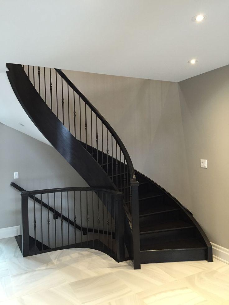 Bacon Lane: New oak staircase, Ebony stain and finish.