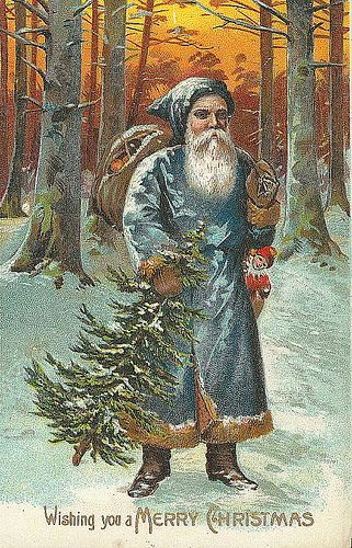 Wishing you a Merry Christmas Vintage Santa/Christmas Postcard | Flickr - Photo Sharing!