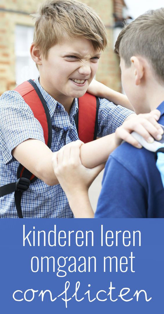 Kinderen leren omgaan met conflicten