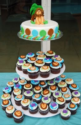 Lion King Cupcakes Nicolas First Birthday Party Lion