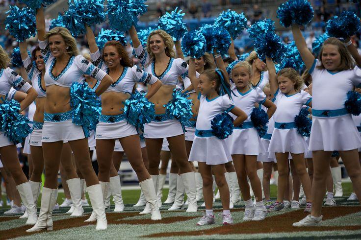 Carolina Panthers - Cheerleaders Topcats White Uniform the Line up 2014