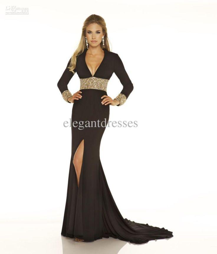 Attractive Black Dress Hit The Floor Hit