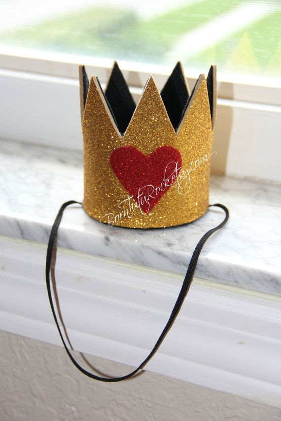Queen of Hearts inspired Crown ... made to accent the QOH tutus from Wonderland Collection...Handmade by BornTuTuRock on Etsy