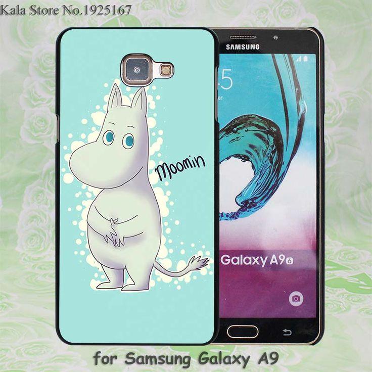 Popular Moomin cartoon sweety Pattern hard black Case Cover for Samsung Galaxy A7 A710 A8 A9 A5 A510 A3 A310