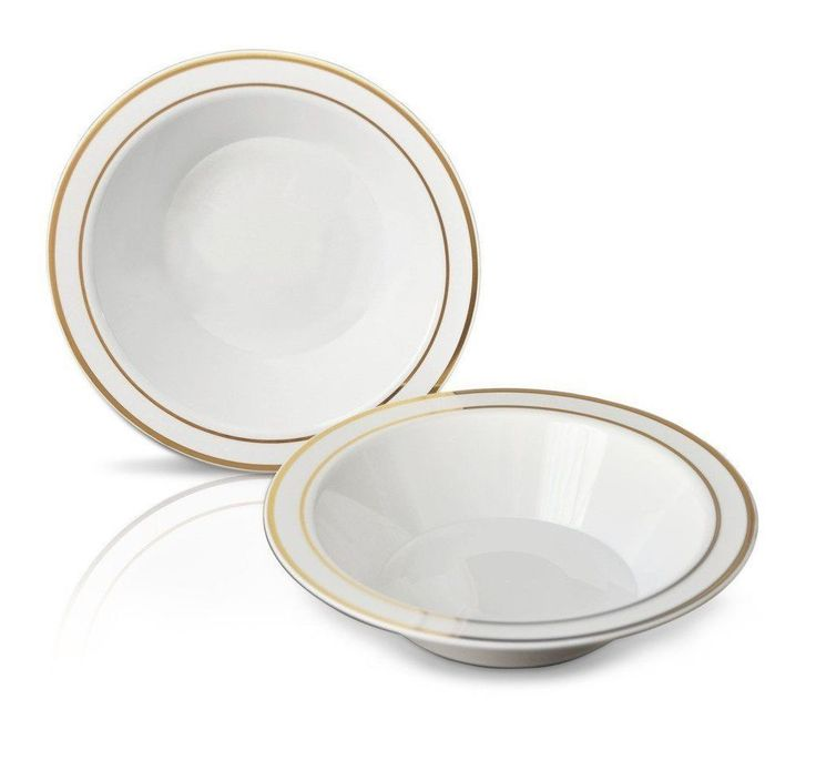 disposable plastic bowls dinnerware round bowls wgold rim wedding party