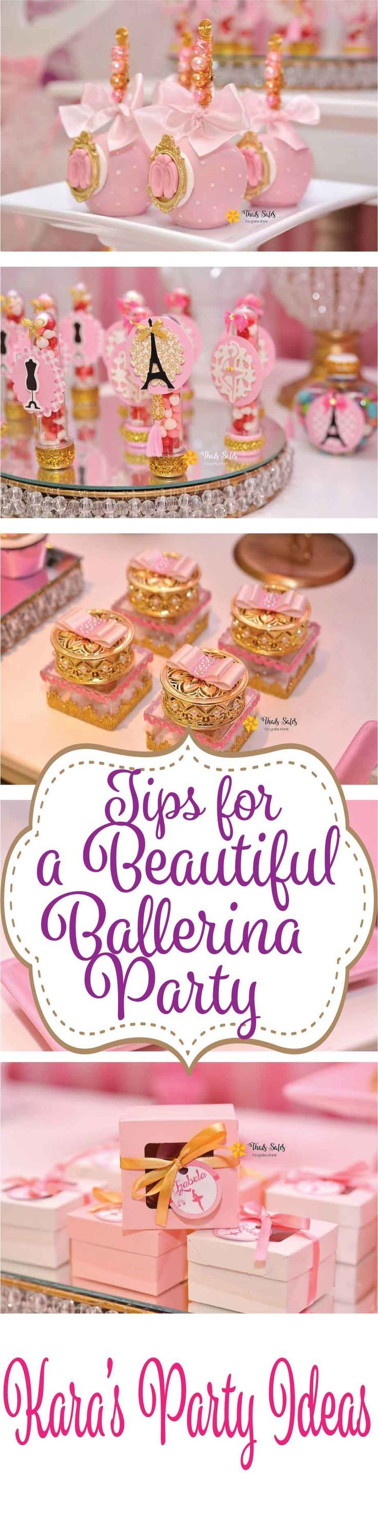 Ballerina Birthday Party Tips via Kara's Party Ideas