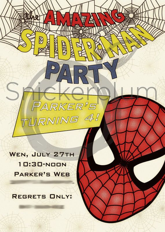 186 best spiderman party images on pinterest birthdays ideas birthday party spiderman invite printable diy by snickerplumllc 1499 solutioingenieria Gallery