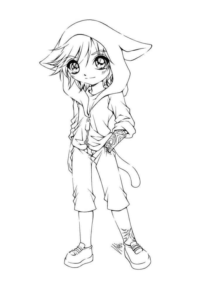 Werewolf Girls Coloring Pages For Teens Chibi Coloring Pages Cute Coloring Pages Angel Coloring Pages