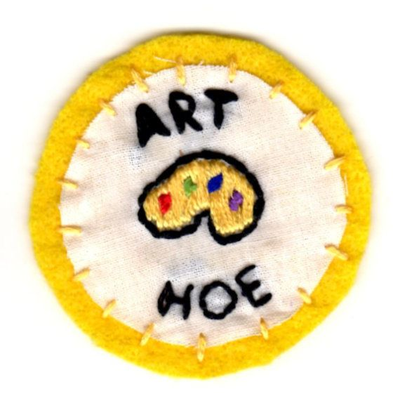 Art Hoe embroidered patch by mittenfingerz on Etsy