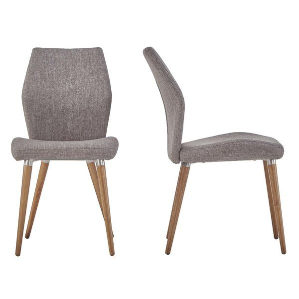 <p>Add stylish seating space to any spot in your home with the Bloch Parsons Chair.</p><p>The frame is constructed of solid and rubber wood and metal, while the seat is wrapped in solid-hued linen upholstery. Filled with foam upholstery, it also has plush appeal. Each of its 4 legs are flared to round out its midcentury-inspired design.</p><p>Toss on a chic patterned pillow for an eye-catching entryway accent, or add it to the office to sit at your desk...