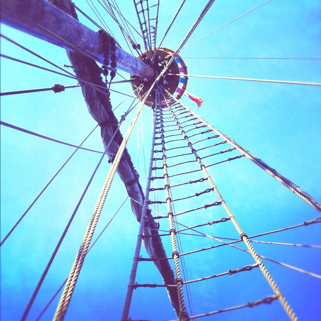 On board The Matthew ship.
