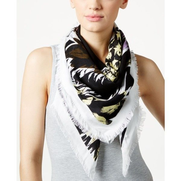 Echo Pineapple Punch Square Scarf ($17) ❤ liked on Polyvore featuring accessories, scarves, pacific teal, teal shawl, teal scarves, pineapple shawl, square scarves and echo scarves