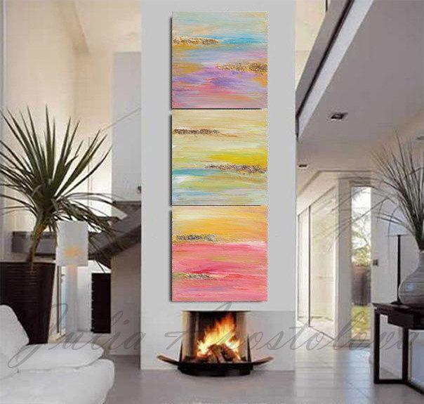 #abstract #painting #triptych #juliaapostolova #minimalist #minimal #print #minimalist #art  #pastel #pastelcolors #abstractart #landscape  #faith #hope #love  #gold #leaf print #large #wallart #goldleaf #abstractart #etsy #trending #etsygifts #etsytrends #trends