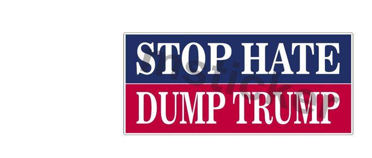 2x Stop Hate Dump Trump Donald Hatred Sticker Aufkleber Autocollants digital Print Save America Patriots Car Truck Bike Helmet JDM Notebook by Artgraphixx on Etsy