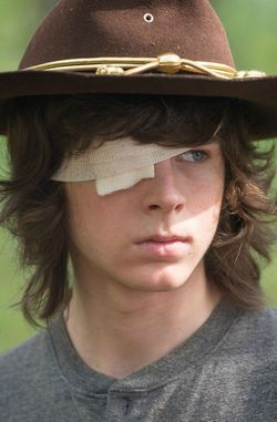 """First Appearance: """"Days Gone Bye"""" S1E1 ~ Carl Grimes (Carl Lost His Eye In """"No Way Out S6E9"""") ~ The Walking Dead"""