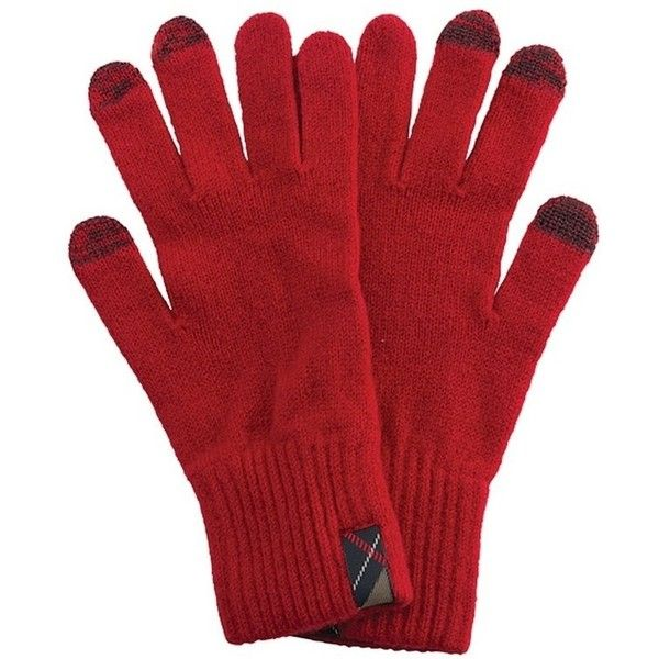 Women's Barbour Dunbar Gloves - Red ($40) ❤ liked on Polyvore featuring accessories, gloves, barbour, barbour gloves, touchscreen gloves, touch screen gloves and red gloves