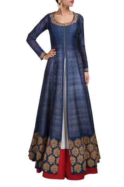 Lehengas , Clothing, Carma, Kurta-Lehenga set , , Evening, Festive , Engagement,Sangeet, Mehendi, Reception , Kurta-Jute Lehenga-Raw silk , India , Dry clean only ,