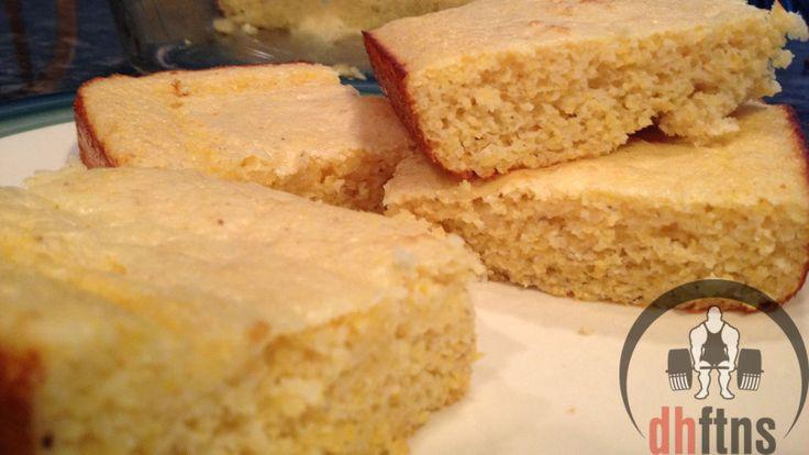 Protein Cornbread Recipe  1/8 recipe: ~100cal, 15.4 carbs, 7.7 protein