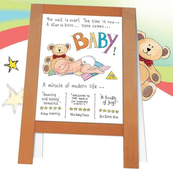 A145 Baby. Fabulous new baby card from Phoenix Trading. £1.75 or £1.40 each when you buy 10 or more cards of any design.