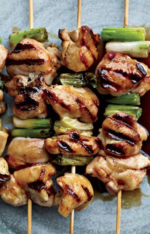 Japanese Yakitori: Grilled Chicken & Scallion