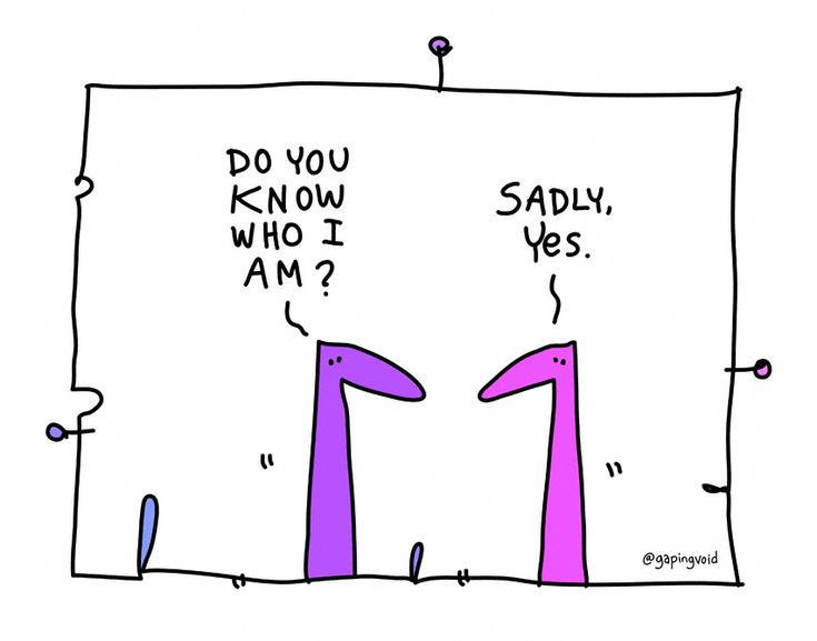 Do You Know Who I Am - gapingvoid art