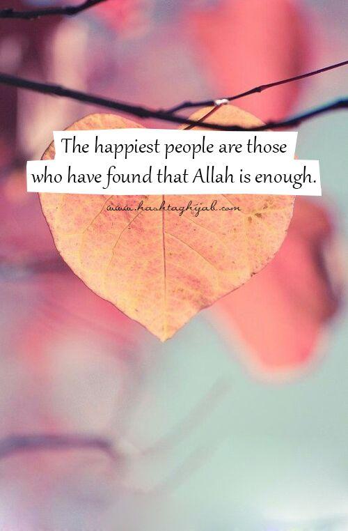 Allah is enough.