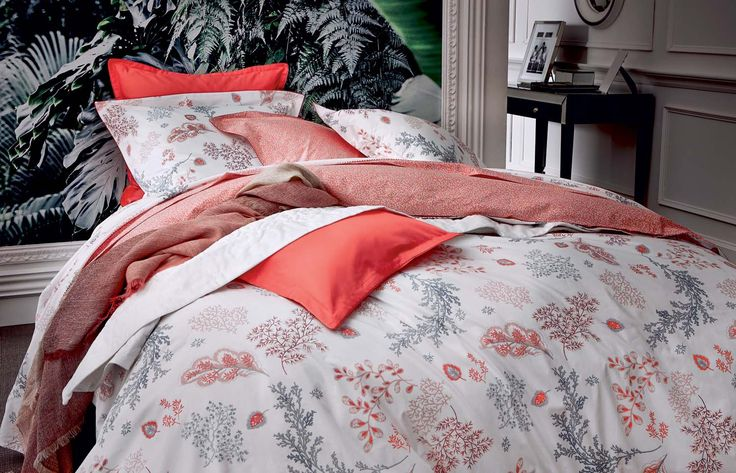 Les 25 meilleures id es concernant draps de lit corail sur for Teo jasmin housse de couette