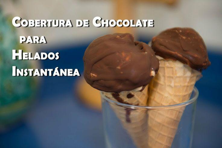 Cobertura Dura de Chocolate para Helados Instantanea