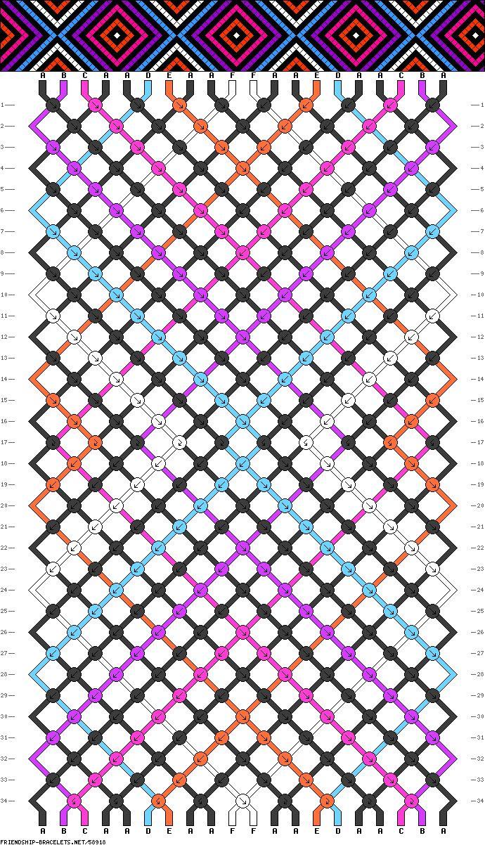 Friendship Bracelet Pattern #58918